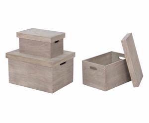 """Komplet 3 pudełek """"Solid"""""""