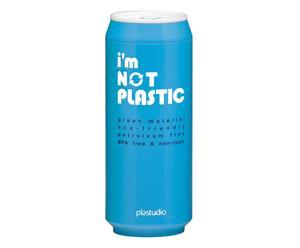 """Kubek termiczny """"I'm Not Plastic"""", niebieski"""