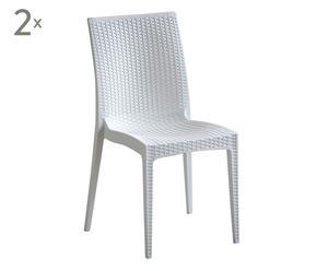 """Zestaw 2 krzeseł """"Minerva"""", biały"""