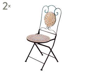 """Zestaw 2 krzeseł """"Mosaic"""""""