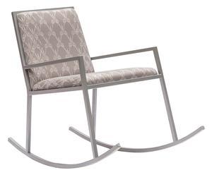 """Krzesło bujane """"Domestic Scissor"""", szare"""