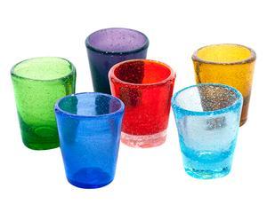 Set di 6 bicchieri liquore in vetro Surf multicolor - 40 ml
