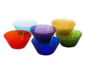 Set di 6 coppette in vetro soffiato multicolor - d 12 cm