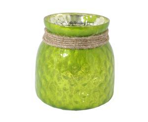 """Świecznik """"Luce"""", zielony"""