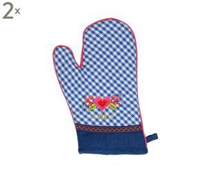 """Rękawice kuchenne """"Blue Check"""""""