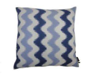 Kussen Batik Weave Wonder, blauw/wit, 45 x 45 cm