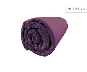 Prześcieradło bawełniane, fioletowe, 160 x 200 cm