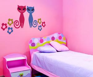 """Naklejka ścienna dla dzieci """"Kotki"""", 60 x 28 cm"""