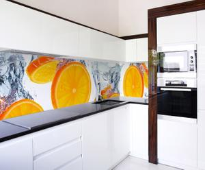 "Fototapeta laminowana do kuchni ""Orange splash Long"", 250 x 65 cm"