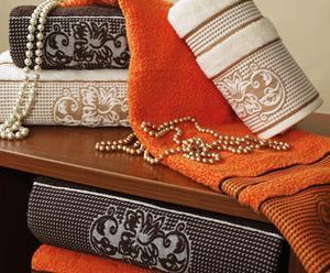 Ręcznik Dynasty, pomarańczowy 50 cm x 90 cm