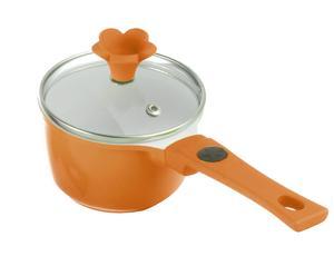 Rondel z pokrywką, pomarańczowy