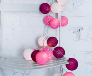 """Girlanda """"Sweet pink"""", 35 kul z włącznikiem"""