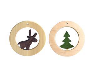 "Zestaw 2 dekoracji ""Reindeer and Tree"""