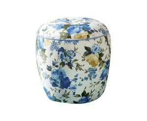 """Puf """"Flora"""", niebieski"""