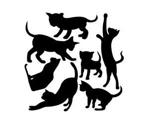 """Naklejka samoprzylepna """"Siedem kotów"""""""