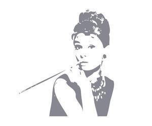 "Naklejka samoprzylepna ""Audrey Hepburn z papierosem"""