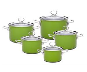 """Zestaw 5 garnków """"FLOX"""" – zielony"""
