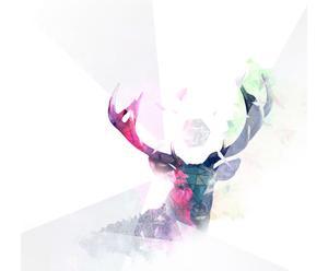 """Grafika na płótnie """"Deer"""" – kamyczek"""