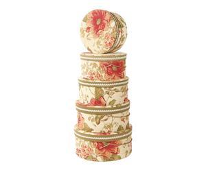 """Zestaw 5 pudełek dekoracyjnych """"Toscana"""""""