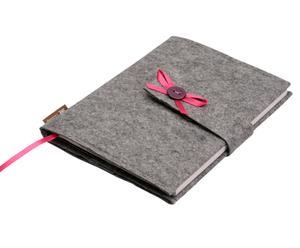 "Etui na notes ""Lily Original"", szaro-różowe"