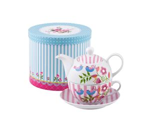 """Serwis do herbaty """"TEA FOR ONE"""", różowy"""