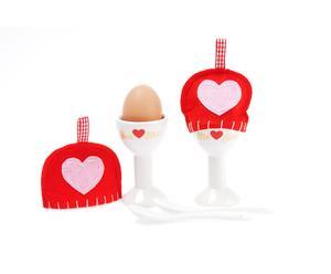 """Dwa kieliszki na jajka z akcesoriami """"Love"""""""