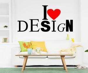 """Naklejka samoprzylepna """"I love design"""""""
