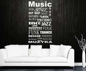 """Naklejka samoprzylepna """"Music"""""""