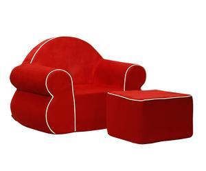 """Fotel i puf """"Rubens"""", czerwone"""