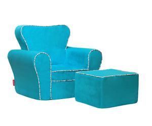 """Fotel i puf """"Windsor"""", niebieskie"""