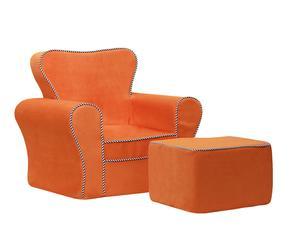 """Fotel i puf """"Windsor"""", pomarańczowe"""