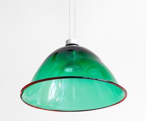 """Lampa """"2K"""", zielona z czerwonym brzegiem, 22-24 cm"""