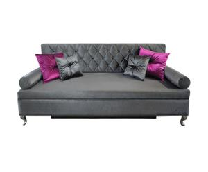 """Sofa rozkładana """"Baroque"""", szara"""