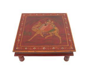 Stolik z malowanym blatem