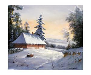 "Obraz olejny ""Winter Is Here"""