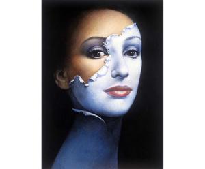 "Plakat na blasze ""Kobieta maska"""