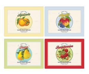 "Zestaw 4 podstawek ""Summer Fruits"""