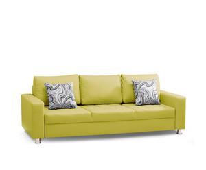 """Sofa rozkładana """"Black"""", limonkowa"""