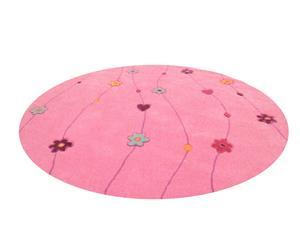 """Dywan okrągły """"Kids Flowers"""", różowy"""