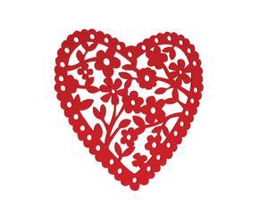 "Mata filcowa ""Heart"", czerwona"
