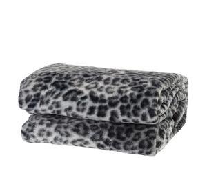 """Koc """"Cashmere Feeling Leopard"""", odcienie szarego"""