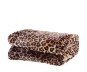 """Koc """"Cashmere Feeling Leopard"""", odcienie brązowego"""