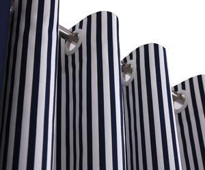 """Zasłona na kółkach """"Happy Stripes"""", granatowa, 250 x 140 cm"""