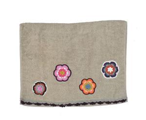 """Ręcznik """"Little Flowers"""", szarozielony"""