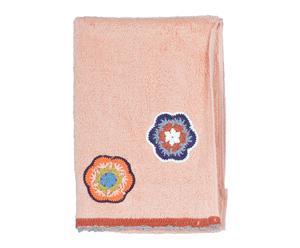 """Ręcznik """"Bigger Flowers"""", łososiowy"""