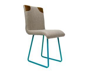 """Krzesło """"Organique Vol. 1"""", beżowe na turkusowych płozach"""