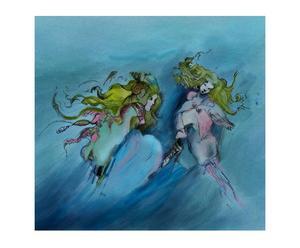"""Obraz na płótnie """"Wodne"""", autor: Dina Hoppe"""