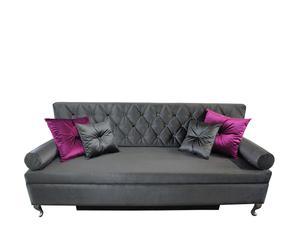 """Sofa rozkładana """"Baroque"""", grafitowa"""