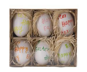 """Zestaw 6 dekoracji """"Festive Eggs III"""""""