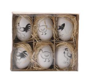 "Zestaw 6 dekoracji ""Festive Eggs IV"""